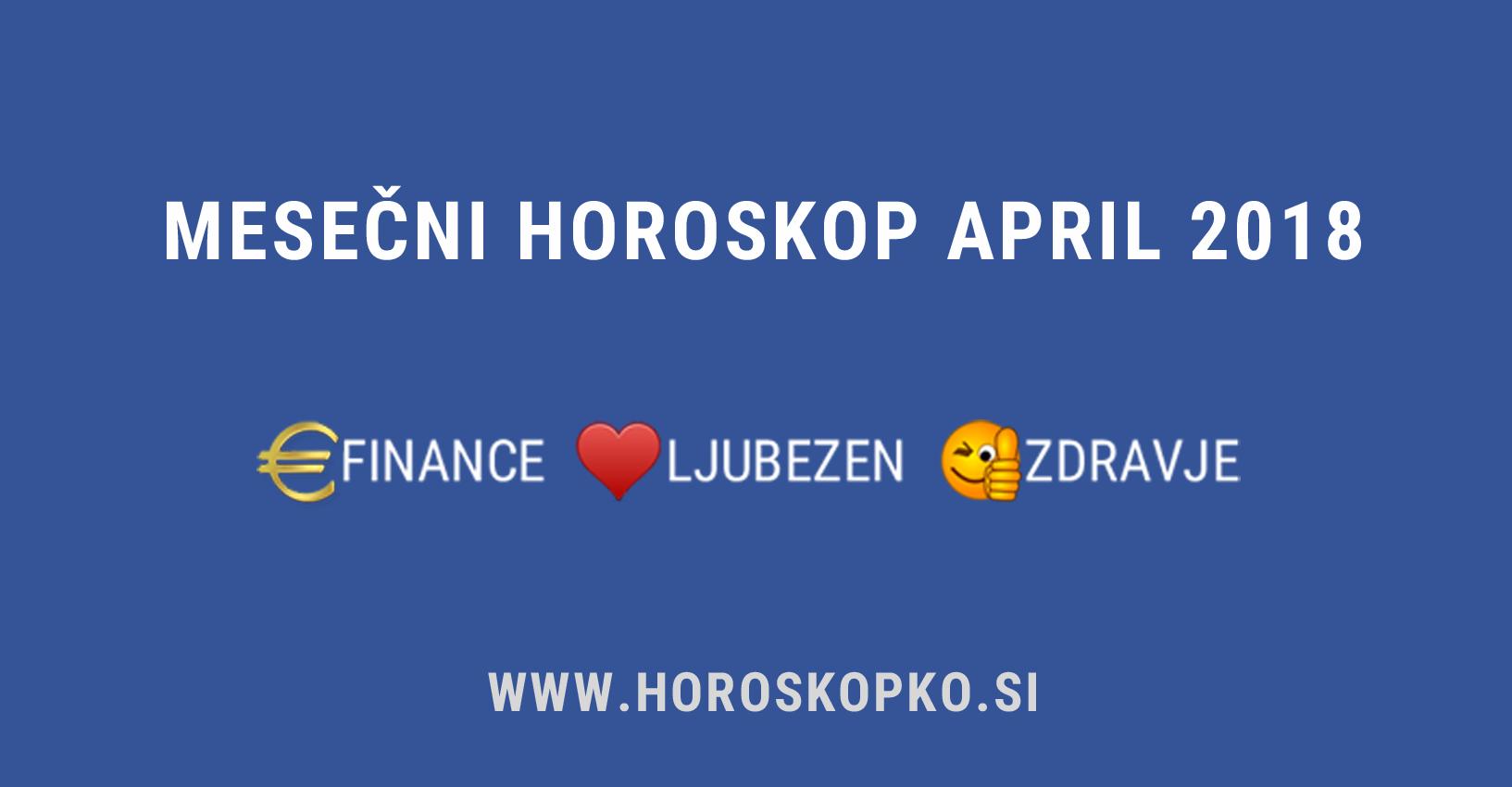 horoskop april 2018