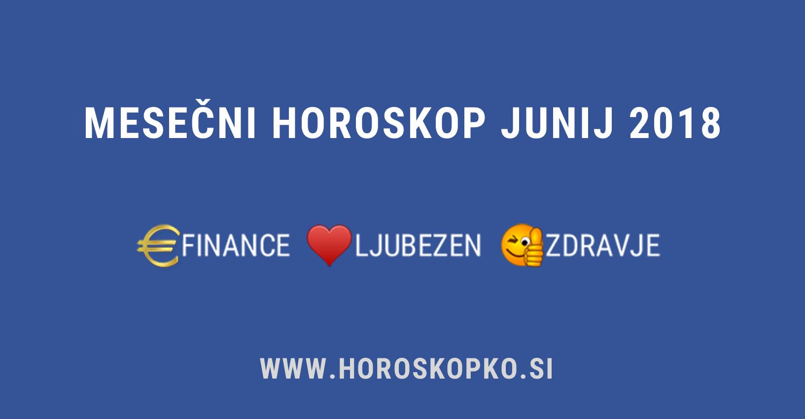 horoskop junij 2018
